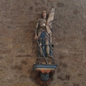 Statue of Jeanne d'Art (Joan of Arc), L'église Saint-Pancrace
