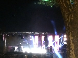 Stage lighting at night