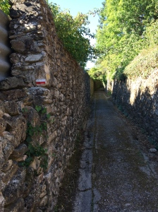 Narrow lanes exiting St Gervais