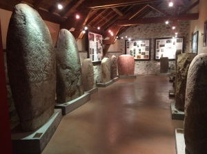 Murat Menhir museum - giant stones in the museum