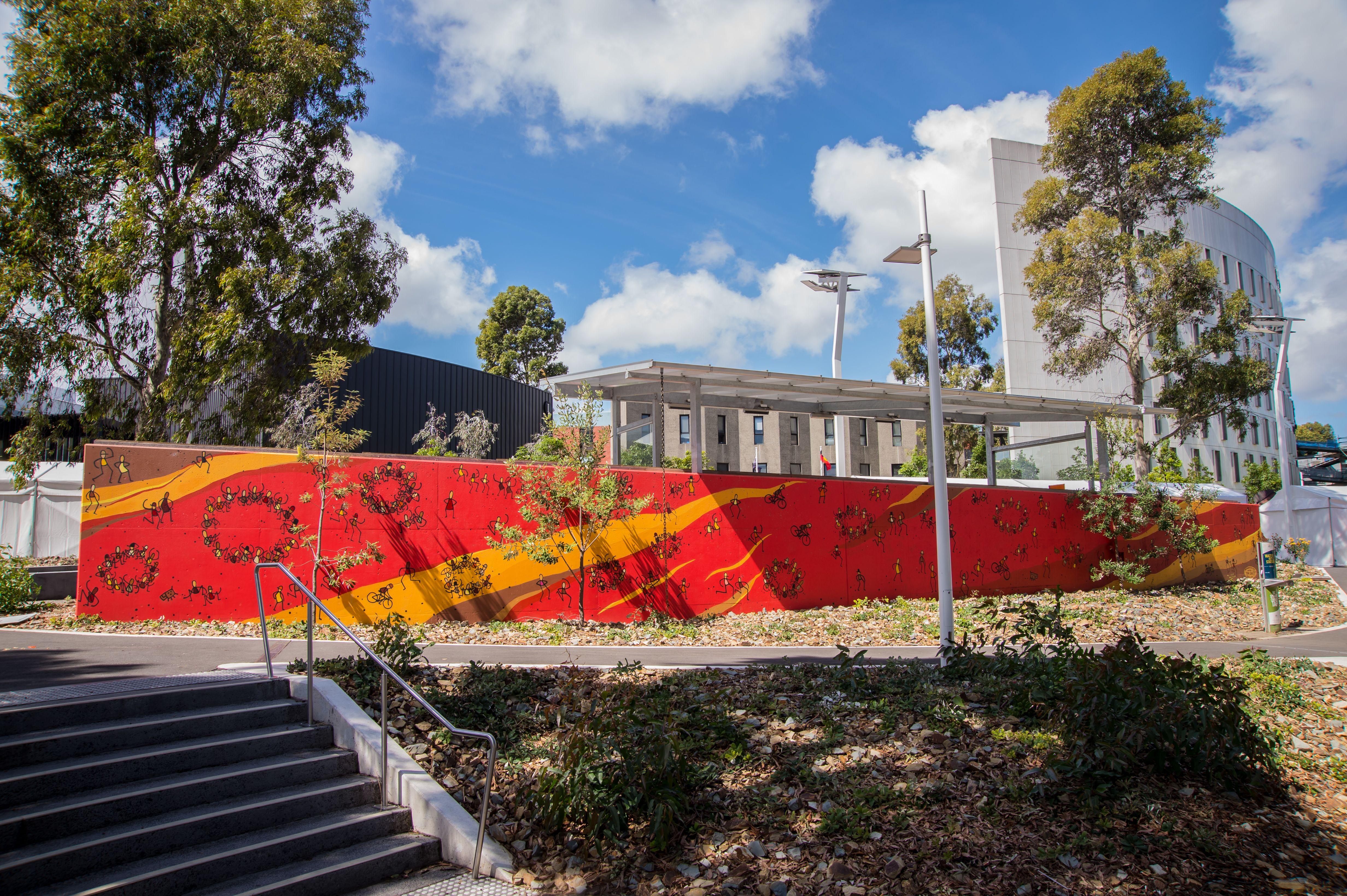 The University Of Life Mural Tom Civil Artist  2014 Burwood Mutant Way
